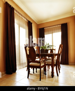 Luxury apartment with stylish modern interior design, dining room - Stock Photo