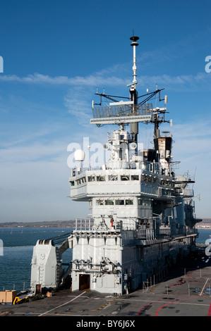 HMS Ark Royal in Portsmouth Dockyard Aircraft - Stock Photo