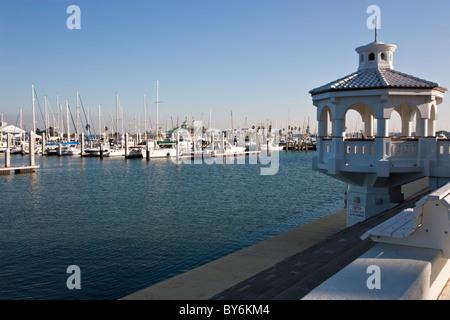 Municipal Marina, Corpus Christi Bay. - Stock Photo