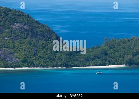 Seychelles, Island of Mahe. Western coast of Mahe, Port Ternay Marine National Park. Turtle Island (aka Therese - Stock Photo