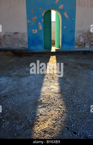 Sunlight streaming through an open door, Tunisia