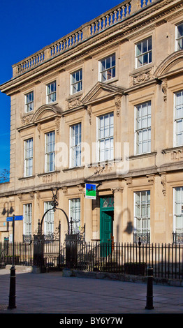 The Georgian facade of Lloyds TSB in the typical provincial English country town of Trowbridge, Wiltshire, England, - Stock Photo