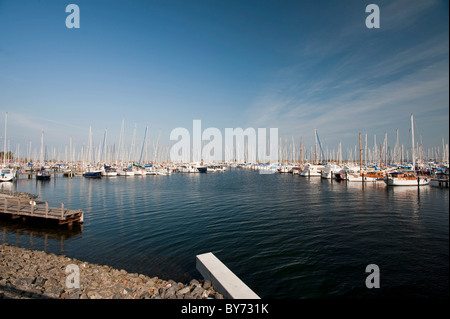 Heiligenhafen Marina, Baltic Sea, Schleswig-Holstein, Germany - Stock Photo