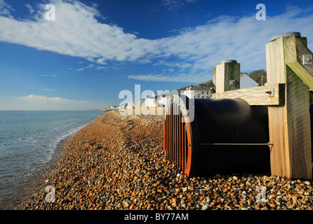 Water outfall pipe. - Stock Photo