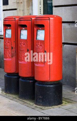 Old Fashioned Red Post Box's - Stock Photo