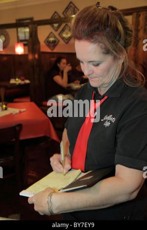 North Carolina, NC, South, Tar Heel State, Murphy, ShoeBooties Cafe, restaurant restaurants food dine dining eating - Stock Photo