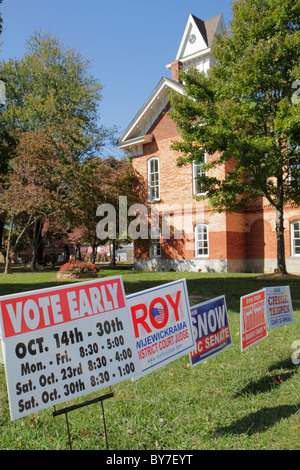 North Carolina, NC, South, Tar Heel State, Hayesville, small town, election, voting, government, local politics, - Stock Photo