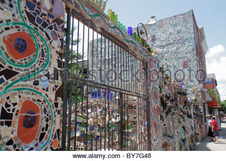 Philadelphia Pennsylvania South Philly South Street Magic Gardens Stock Photo Royalty Free
