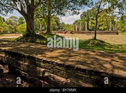 Temple in Anuradhapura, North Central Province, Sri Lanka - Stock Photo