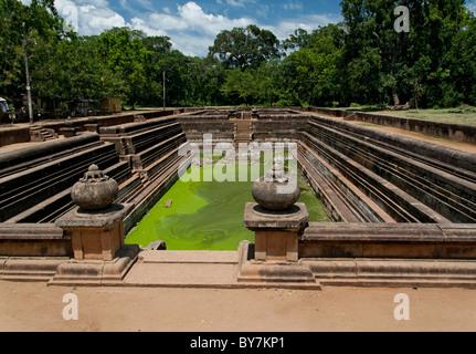 Pool in Anuradhapura, Sri Lanka - Stock Photo