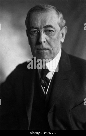 Woodrow Wilson was the 28th President of the United States. - Stock Photo