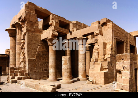 The temple at Kom Ombo, on the Nile, Egypt, dedicated to Sobek, the crocodile god. - Stock Photo