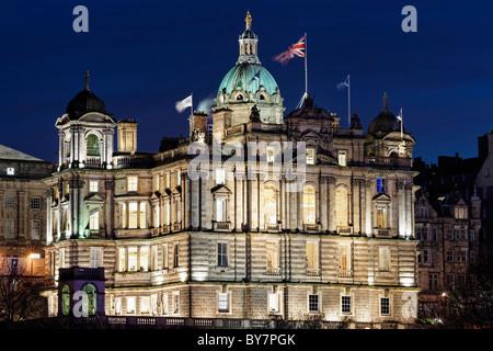 The Bank of Scotland HQ on the Mound, Edinburgh, Scotland, UK - Stock Photo