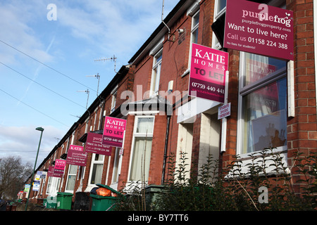 Houses to let in Lenton, Nottingham, Engalnd, U.K. - Stock Photo