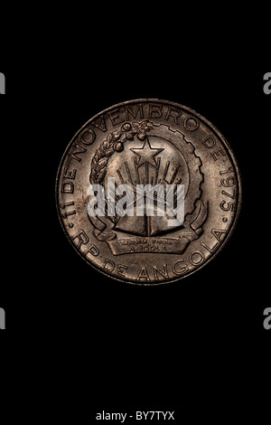 Angolan Coin - Kwanza - Stock Photo