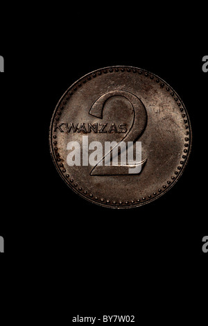 Kwanza coin - Angola - Stock Photo
