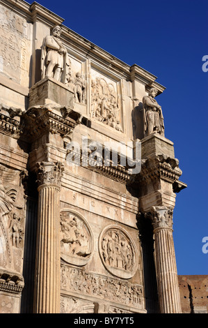 italy, rome, arch of constantine close up - Stock Photo