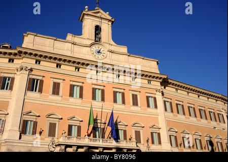 italy, rome, palazzo di montecitorio, italian parliament, chamber of deputies - Stock Photo