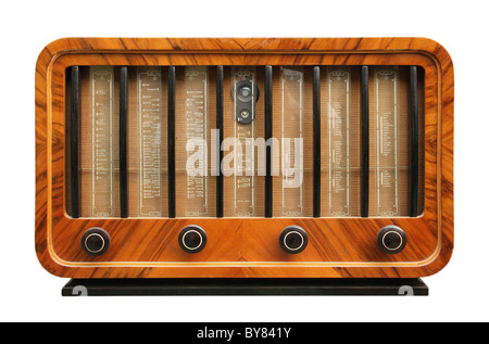 Old radio from 1950 and the years. - Stock Photo