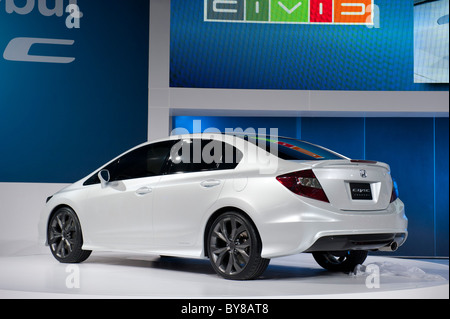 Honda Civic concept at the 2011 North American International Auto Show in Detroit - Stock Photo