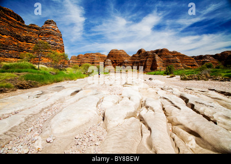 Piccaninny Creek in Purnululu (also known as the Bungle Bungles), Western Australia. - Stock Photo