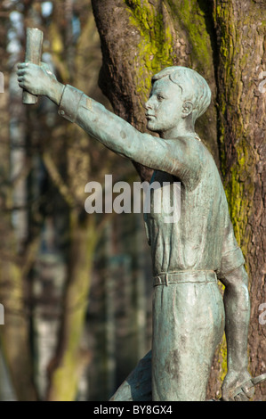 bronze statue of the coventry boy midlands uk gb stock