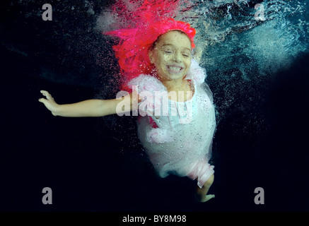 Underwater ART / Fashion in pool - Stock Photo