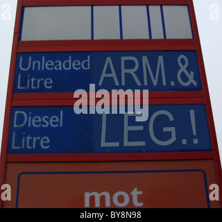 Petrol Prices UK.  (Inflation) - Stock Photo