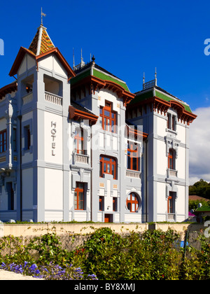 The Hotel Villa Rosario in Ribadesella a town on the east coast of Asturias northern Spain with many grand buildings - Stock Photo