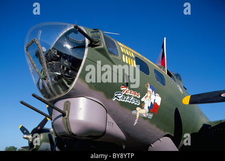 Boeing B-17G Flying Fortress, Abbotsford International Airshow, BC, British Columbia, Canada - 'Texas Raiders' on - Stock Photo
