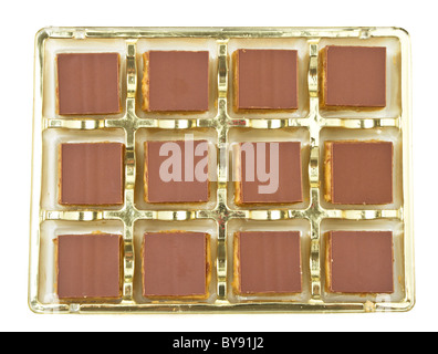 Abstract background of chocolate covered shortbread. - Stock Photo