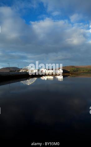 Contemporary Bridge to Achill Sound, Achill Island, County Mayo, Ireland - Stock Photo