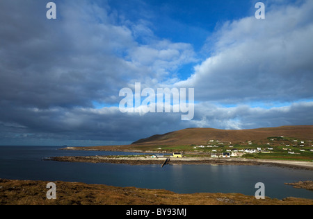Dooega Village on the Atlantic Drive, Achill Island, County Mayo, Ireland - Stock Photo