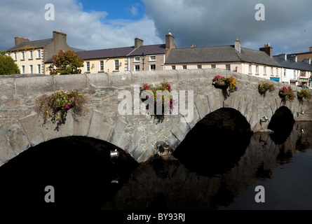 Bridge over the River Carrowbeg, Running Through The Mall, Westport, County Mayo, Ireland - Stock Photo