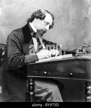 CHARLES DICKENS (1812-1870) English novelist photographed by George Wilkins in 1858 - Stock Photo