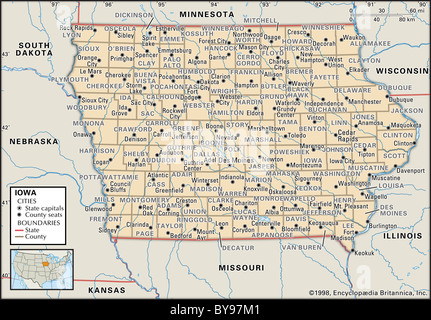 Map Maps USA Middle West Canada Stock Photo Royalty Free Image - Political map of south dakota
