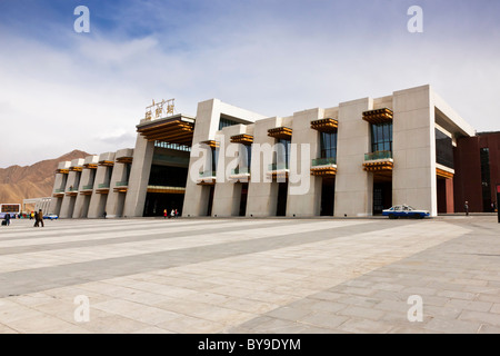 Exterior of the railway station Lhasa Tibet. JMH4612 - Stock Photo
