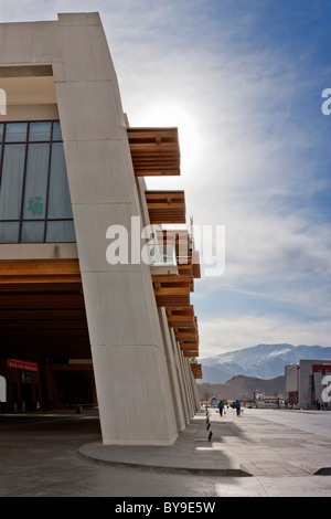 Exterior of the railway station Lhasa Tibet. JMH4616 - Stock Photo