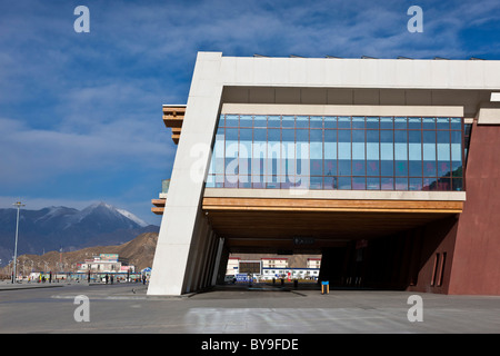 Exterior of the railway station Lhasa Tibet. JMH4623 - Stock Photo