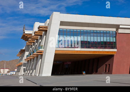 Exterior of the railway station Lhasa Tibet. JMH4624 - Stock Photo