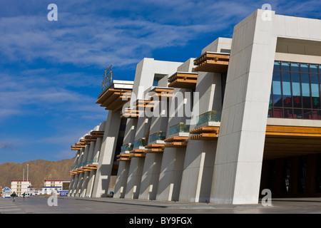 Exterior of the railway station Lhasa Tibet. JMH4625 - Stock Photo