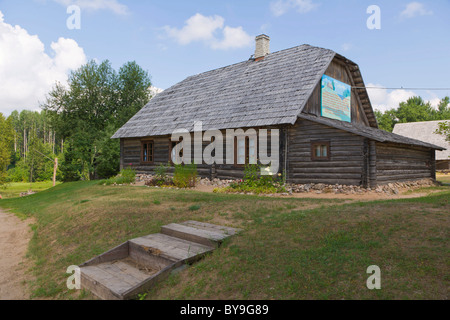 Householders house, Viktora Kirpa Ates museum, Ate, Annas Parish, Aluksne municipality, Latvia, Northern Europe - Stock Photo