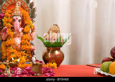 Ganesh idol - Stock Photo