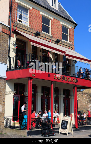 united kingdom west london chiswick cafe rouge at strand on the green by the river thames - Stock Photo