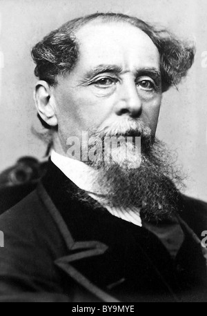 CHARLES DICKENS (1812-1870) Victorian novelist and philanhropist photographed by Jeremiah Gurney in New York in - Stock Photo