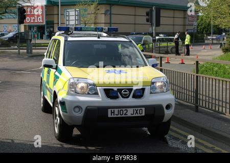 Paramedic rapid response vehicle - Stock Photo