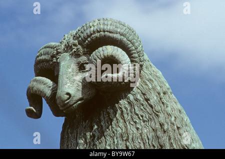 The Moffat Ram, Moffat, Dumfriesshire - Stock Photo