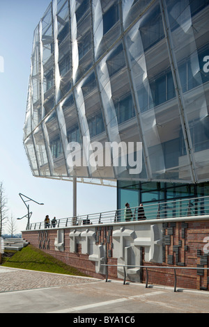 Commercial building, office building 'Unilever Haus', Hamburg, Germany, Europe - Stock Photo