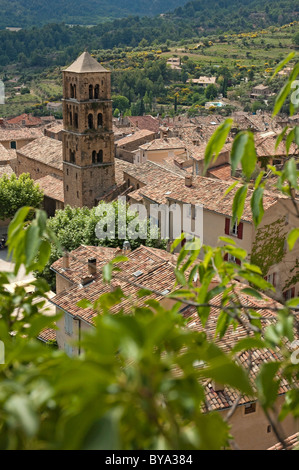 Moustiers-Sainte-Marie Village in Provence, France - Stock Photo