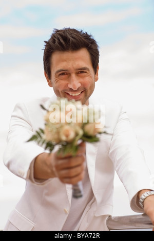 Man waiting for his bride-to-be - Stock Photo